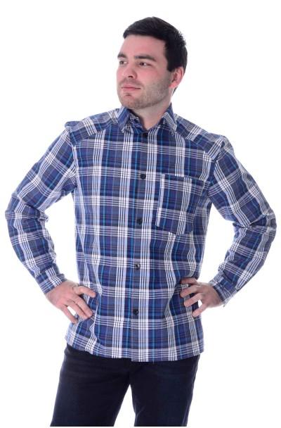 Рубашка дл. рукав, шотландка,