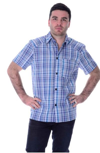 Рубашка  кор. рукав, шотландка,