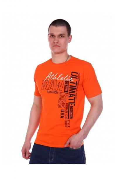 """Футболка мужская """"Демид"""" оранжевый"""