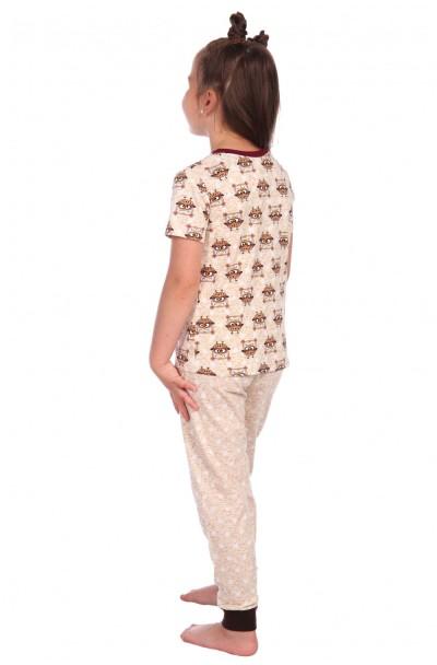 "Пижама ""Милаша"" бежевый футболка совы"