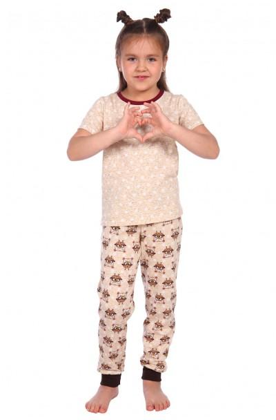 "Пижама ""Милаша"" бежевый футболка горох"