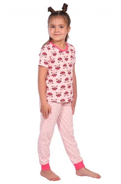 "Пижама ""Милаша"" розовый футболка совы"