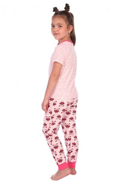 "Пижама ""Милаша"" розовый футболка горох"