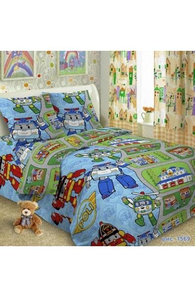 Детское постельное белье из поплина Иваново   П.Россия д-003