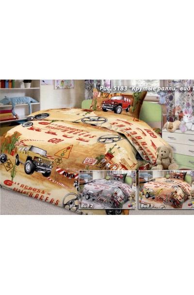 Детское постельное белье из бязи пл 125БГ-155 (д) серый