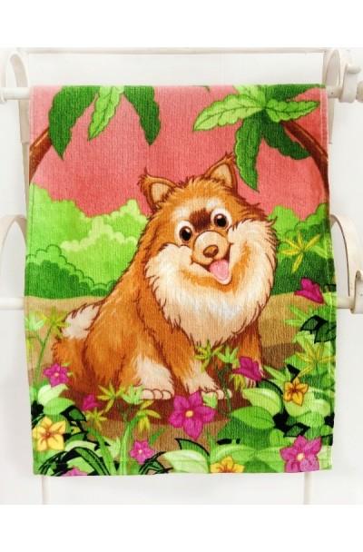 Полотенца Детские Полотенца махровые с собаками в ассортименте