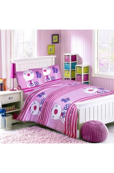 Детское постельное белье из трикотажа. Комплект трикотажный РОЗОВЫЙ