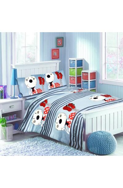 Детское постельное белье из трикотажа. Комплект трикотажный СИНИЙ