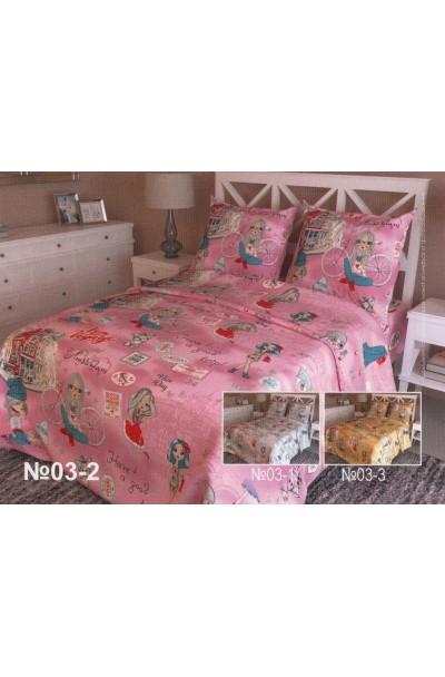 Детское постельное белье из бязи пл 125БГ-656(д) розовый
