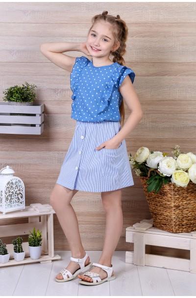 Блузка детская Горошек-2