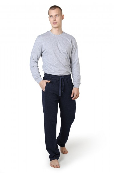 Трико мужское, М-9589 сбоку и сзади карман,с вышив, меланж